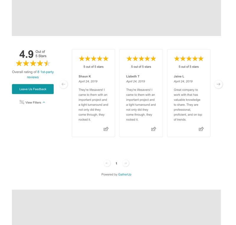 Gatherup Review Widget