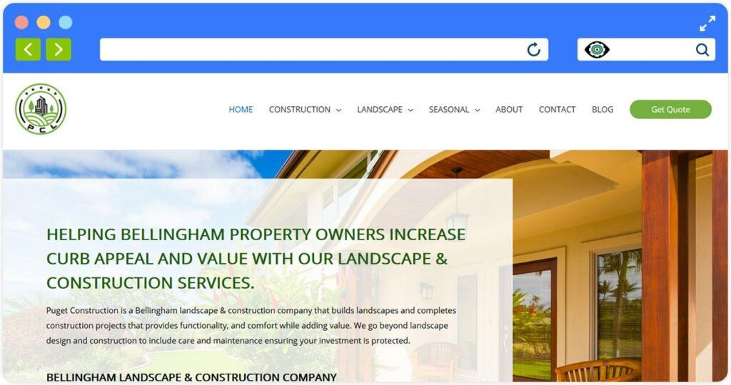 Puget Construction And Landscape Screenshot